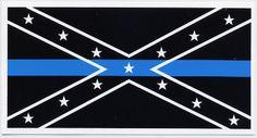 Confederate Blue Lives Matter Vinyl Decal