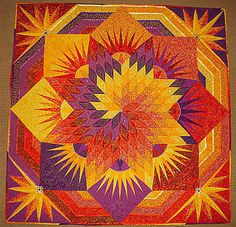 """Solar Storm"" by Jerry Granata - Show & Tell - Quilters Club of America from Jan Krentz's book Lone Star Quilts and Beyond----stunning!!!"