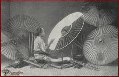 Umbrella Maker  (Japanese Glimpses, 1898 - Godey's Lady's Book)