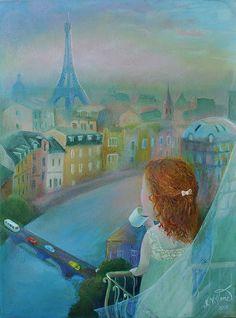 Parisian dreams | by Art by Natasha Villone