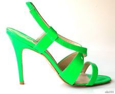 $685 MANOLO BLAHNIK lime green open-toe X-strap heels shoes 39 9 - never worn ~ GREAT COLOUR; horrible heel!!! =P