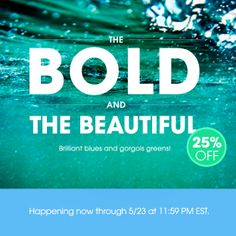 Try a bold blue or fierce green look for #summer! Shop 25% off blues and greens! #MallyTrends