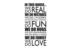 [ This House Wall Sticker Art Disney Decal Quotes Words Sayings Stickers ] - Best Free Home Design Idea & Inspiration Motto, Wall Stickers, Wall Decals, Disney Decals, Best Quotes Ever, In This House We, House Wall, Words Worth, This Is Us Quotes