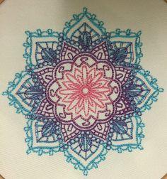 Mandala bordado indio Aro art Decor enmarcados regalo mendi