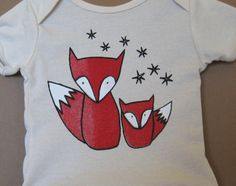 For my future future future baby. Red Foxes printed on Organic Cotton T Shirt for by alexandandy, $18.00