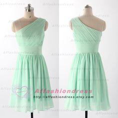 Short Bridesmaid Dress with Green Mint Bridesmaid Dress Chiffon Bridesmaid Dresses Prom Dresses Short Bridesmaids Dresses Chiffon Dress by affashiondress on Etsy https://www.etsy.com/listing/197382372/short-bridesmaid-dress-with-green-mint