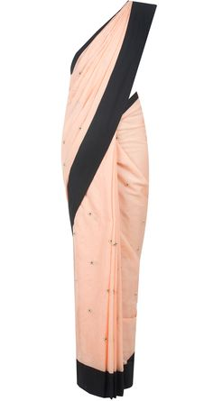 Blush embroidered saree by PAYAL SINGHAL