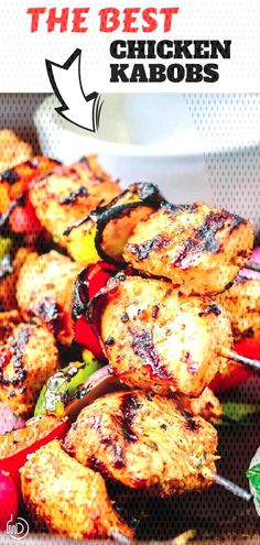 #mediterraneanrecipes #mediterranea... Chicken Kabob Recipes, Chicken Kabobs, Tandoori Chicken, Ethnic Recipes, Food, Essen, Meals, Yemek, Chicken Kebab
