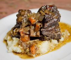 Red Wine Braised Short Ribs--tastes like a 4 star restaurant. Risotto would be delicious with it!