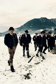 Berchtesgaden/Schönau in Bayern/Bavaria: Weihnachtsschützen