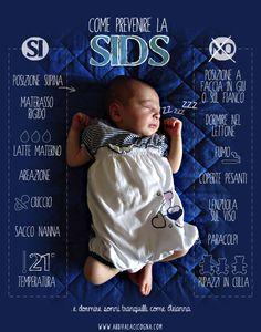 prevenzione della SIDS - le regole per prevenire la sindrome della morte in culla del lattante