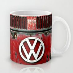 VW Retro Red Mug by Alice Gosling - $15.00 Available in 11 and 15 ounce sizes…