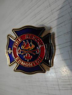 Edmonton fire badge Edmonton fire department Canada 100% ORIGINAL New Rarity