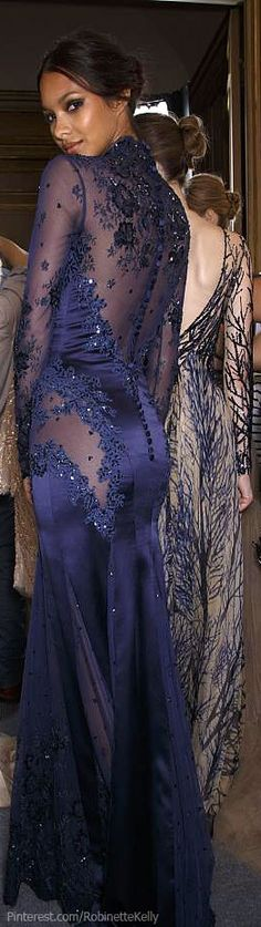 """oncethingslookup: """" Lais Ribeiro backstage at Zuhair Murad Fall 2013 Haute Couture """" Couture Mode, Couture Fashion, Fashion Show, Couture Week, Dress Fashion, Fashion Women, Women's Fashion, Pretty Dresses, Sexy Dresses"""