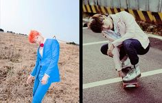 BTS The Most Beautiful Moment in Life (화양연화) Photoshoot vs Young Forever Photoshoot | V
