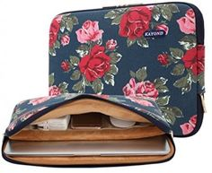 lady's Canvas laptop Sleeve Case Bag Macbook Air/Pro 13-13.3 inches Blue
