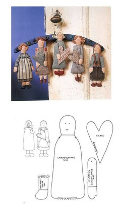 Doll angel pattern or just-a-doll patterncute angel cloth dolls,very nice For Angel mobile .suggestion for wings on dolls Doll Crafts, Diy Doll, Sewing Crafts, Sewing Projects, Fabric Toys, Fabric Crafts, Paper Toys, Doll Clothes Patterns, Doll Patterns