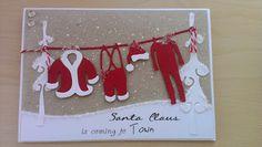 Santa's laundry Christmas card