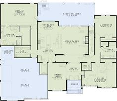 2173 sq ft 3 bedroom rambler with side load 3 car garage for 3 car garage cost per square foot