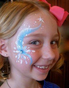 Face painting faces frozen