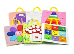 A developing Toy Travel set of paneels 12m /Quiet Book by MiniMoms