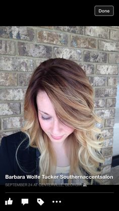 Brown to Blonde Ombre Barbara Tucker