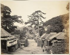 神奈川のメインストリート ; View of the Main Street of Kanagawa, Japan, 1867-1869.