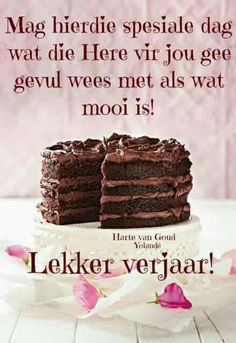 Lekker verjaar Happy Birthday Owl, Happy Birthday Pictures, Happy Birthday Messages, Birthday For Him, Happy Birthday Quotes, Birthday Images, Birthday Greetings, Minions, Happy Wishes