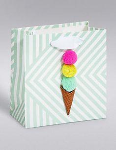 Pom-Pom Ice Cream Small Gift Bag