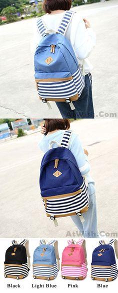 Backpack Purse Women,Miya School Bookbag Lightweight Travel Bag iPad Backpack College Students Girls Womens 3 Pieces Set #Blue
