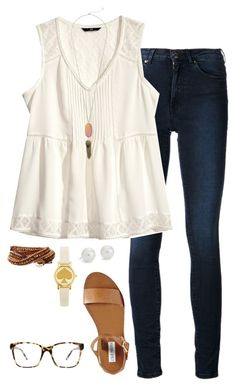 """""""Sort of boho"""" by kaley-ii ❤ liked on Polyvore featuring Acne Studios, H&M, Steve Madden, Blue Nile, Kendra Scott, Kate Spade, Humble Chic and Kam Dhillon"""