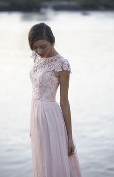 Pink pastel Latitia Bridesmaids Dress by Tania Olsen Designs