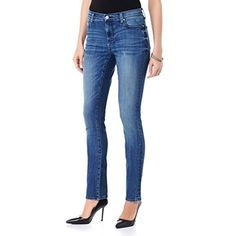 Charming Girl Womens Junior Sexy Denim Jeans Floral Print Skinny Pants 7 *** Click on the image for additional details.