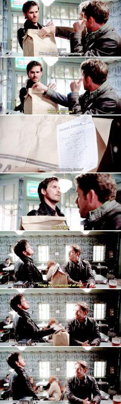 "Robin's face is like ""You better believe it, buddy."" Hook and Robin Hood - 5 * 3 ""Seige Perilous"""