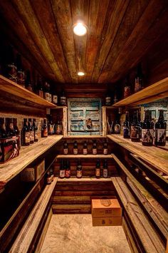 Beer cellar that I built for my dad for Father's Day. Used to be an old cedar closet in the basement. All wood was reclaimed and the only real cost was for the can lights and screws. :) enjoy!
