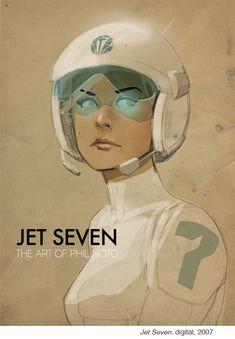 Jet Seven via - 'The Art of Phil Noto' Notoart.com