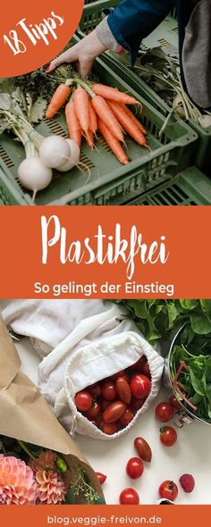 Shopping without plastic - 18 tips for getting started. Avoid rubbish, buy plastic-free, buy food un Clean My House, Diys, Green Life, Food Items, Diy Kitchen, Zero Waste, Veggies, Food And Drink, Ethnic Recipes