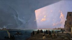 Ippolito Caffi, Eclipse in Venice  6 th of july 1842.jpg (1200×667)