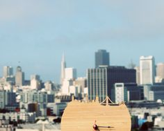Wall Clock  San Francisco Skyline by iluxo on Etsy - A very useful 'gadget' for your wall by #iluxo #SFEtsy