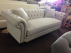 """""""Cipriano"""" Sofa - Every style can be customized in virtually any way possible!  www.MonarchSofas.com More custom pieces on our Houzz profile! http://www.houzz.com/pro/thesofaworks/monarch-sofas"""