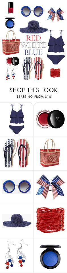 """July 4th Pool Party 🎉"" by chelsea-atencio ❤ liked on Polyvore featuring Lisa Marie Fernandez, Edward Bess, Hollister Co., Gap, Dolce&Gabbana, Chico's, Berry, MAC Cosmetics and Chanel"