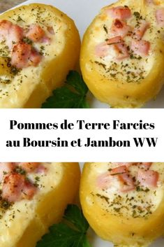 Healthy Salad Recipes 76877 Potatoes Stuffed with Boursin and Ham WW - Page 2 - All recipes com Healthy Low Carb Dinners, Salad Recipes Healthy Lunch, Easy Healthy Recipes, Easy Meals, Diabetic Recipes, Plats Weight Watchers, Low Carb Chicken Recipes, Light Recipes, Boursin