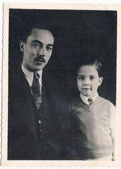 Le comte de Paris Henri VI avec son fils l'actuel comte de Paris