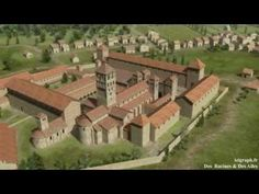 Cluny Cluny, Cathedral Church, Medieval Town, Romanesque, Birds Eye View, Cathedrals, Garden Bridge, Outdoor Structures