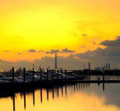 Dubai Golden Sunset .