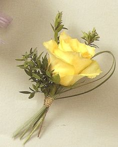 Grass loop with succulent instead of rose Wedding Boutonnieres | Wedding Boutonniere
