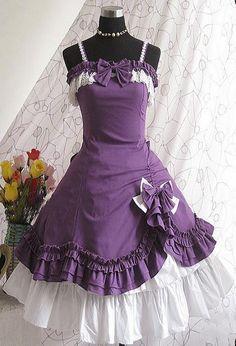 2013 Purple Vintage Gothic Lolita Dress Girls Perid Costumes Free Petticoat…