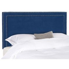 Add a splash of color to your room decor with this modern blue headboard from Safavieh. This elegant Cory headboard is padded with thick polyester fill for added comfort, and it has contemporary nail-head accents for added style and beauty.