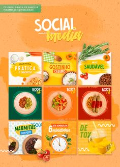 Social Media - Family Flavor on Behance - My Recommendations Food Graphic Design, Food Poster Design, Web Design, Food Design, Header Design, Social Media Poster, Social Media Branding, Social Media Banner, Social Media Template