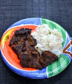 jerk seitan-awesome!! Serve with cuban beans and coconut rice and banana.
